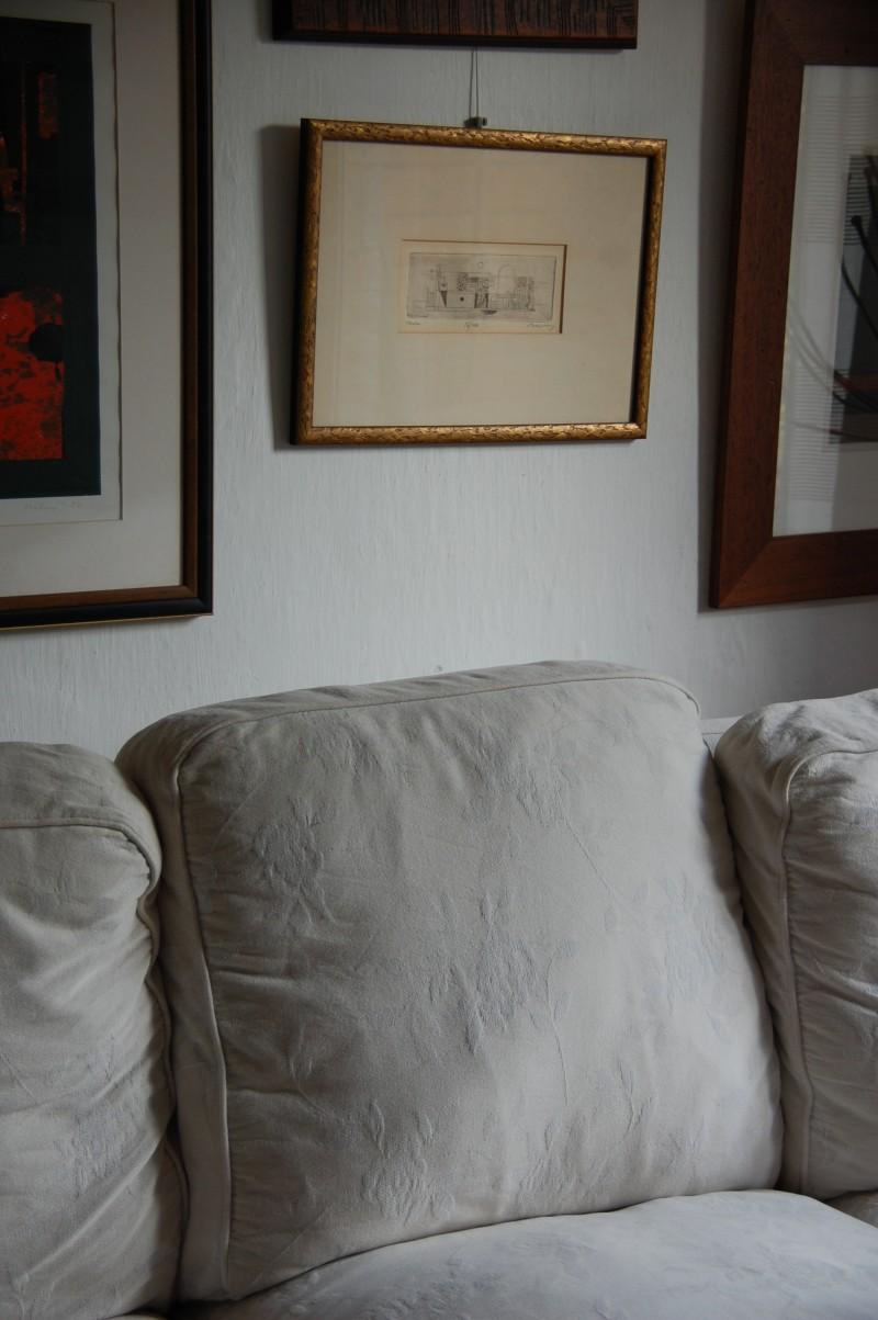 Barcsay Jenő grafikája Musza Györgyi otthonában